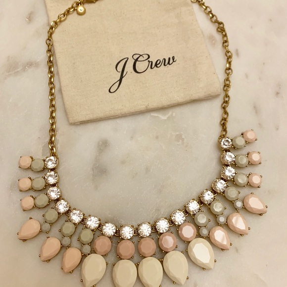 J. Crew Jewelry - JCrew never worn statement necklace neutral colors